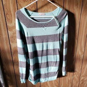 Teal & Grey sweatertunic